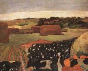 Paul Gauguin The Hayricks (mk07) oil painting picture wholesale