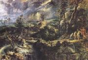 Peter Paul Rubens Stormy Landscape with Philemon und Baucis(mk08) oil painting picture wholesale