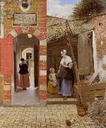 Pieter de Hooch The Courtyard of a House in Delft (mk08) oil painting picture wholesale