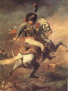 Theodore   Gericault An Officer of the Imperial Horse Guards Charging (mk05) oil painting picture wholesale