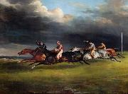 Theodore   Gericault The Epsom Derby (mk09) oil painting picture wholesale