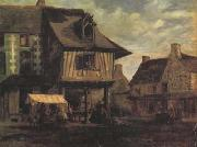 Theodore Rousseau Marketplace in Normandy (san04) oil painting picture wholesale