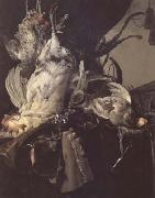 Aelst, Willem van Still Life of Dead Birds and Hunting Weapons (mk14) oil painting picture wholesale
