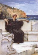 Alma-Tadema, Sir Lawrence Resting (mk23) Sweden oil painting artist