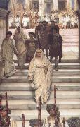 Alma-Tadema, Sir Lawrence The Triumph of Titus: AD 71 (mk23) oil painting picture wholesale