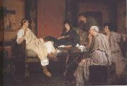 Alma-Tadema, Sir Lawrence Tibullus at Delia's (mk23) oil painting picture wholesale