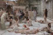 Alma-Tadema, Sir Lawrence The Women of Amphissa (mk23) oil painting picture wholesale