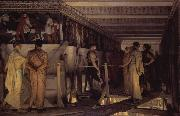 Alma-Tadema, Sir Lawrence Phidias Showing the Frieze of the Parthenon to his Friends (mk23) oil painting picture wholesale