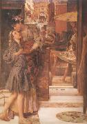 Alma-Tadema, Sir Lawrence The Parting Kiss (mk24) oil painting picture wholesale