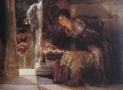Alma-Tadema, Sir Lawrence Welcome Footsteps (mk23) oil painting picture wholesale