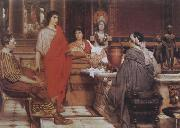 Alma-Tadema, Sir Lawrence Catullus at Lesbia's (mk23) oil painting picture wholesale