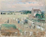 Berthe Morisot Hanging the Laundry out to Dry (nn02) oil painting picture wholesale