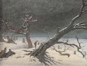 Caspar David Friedrich Winter Landsacpe (mk10) oil