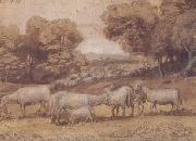 Claude Lorrain Landscape with Sheep (mk17) oil painting picture wholesale