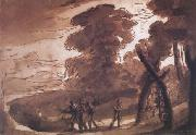 Claude Lorrain Landscape with Figures Before (mk17) oil painting picture wholesale