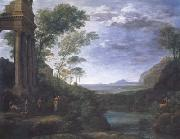 Claude Lorrain Landscape with Ascanius Shooting the Stag (mk17) oil painting picture wholesale