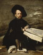 Diego Velazquez A Dwarf Holding a Tome on his Lap (Don Diego de Acedo,El Primo) (df01) oil painting picture wholesale