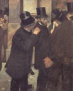 Edgar Degas Portrait at the Stock Exchange (nn020 oil painting picture wholesale