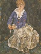 Egon Schiele Portrait of the Artist's Wife,Seated (mk12) oil painting picture wholesale