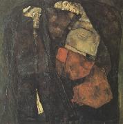 Egon Schiele Pregnant Woman and Death (mk12) oil painting picture wholesale