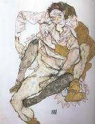 Egon Schiele Seated Couple (mk20) oil painting picture wholesale