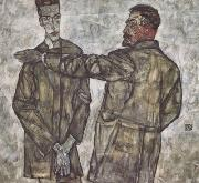 Egon Schiele Double Portratit (mk12) oil painting picture wholesale