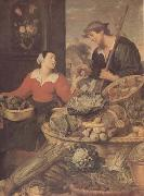Frans Snyders detail Fruit and Vegetable Stall (mk14) oil painting artist