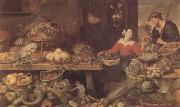 Frans Snyders Fruit and Vegetable Stall (mk14) oil painting artist