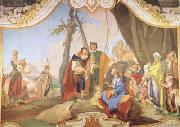 Giovanni Battista Tiepolo Rachel Hiding the Idols from her Father Laban (mk08) Sweden oil painting artist
