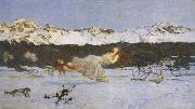 Giovanni Segantini The Punishment of The Lustful (mk19) oil painting artist