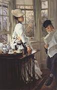 James Tissot Reading The News (nn01) oil painting picture wholesale