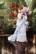 James Tissot The Bunch of Lilacs (nn01) oil painting picture wholesale