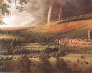 Jan Siberechts Landscape with Rainbow,Henley-on-Thames (mk08) oil painting picture wholesale