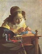 Jan Vermeer The Lacemaker (mk08) oil painting picture wholesale
