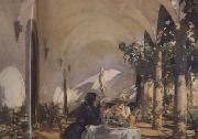 John Singer Sargent Breakfast in the Loggia (mk18) oil painting picture wholesale