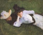 John Singer Sargent Two Girls on a Lawn (mk18) oil painting picture wholesale