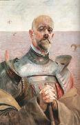 Malczewski, Jacek Self-Portrait in Armour (mk19) oil painting picture wholesale