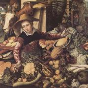 Pieter Aertsen Market Woman with Vegetable Stall (mk14) oil painting picture wholesale