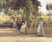 Silvestro lega The Pergola (nn02) oil painting artist