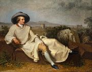 TISCHBEIN, Johann Heinrich Wilhelm Goethe in the Roman Campagna (mk08) oil painting picture wholesale