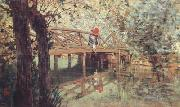 Telemaco signorini The Wooden Footbridge at  Combes-la-Ville (nn02) oil painting artist