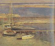 Theodore Robinson Boats at a Landing (nn02) oil painting picture wholesale