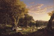 Thomas Cole The Pic-Nic (mk13) oil painting picture wholesale