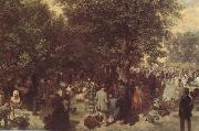 Adolph von Menzel Afternoon in the Tuileries Garden (nn02) oil painting picture wholesale