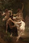 Adolphe William Bouguereau Nymphs and Satyr (mk26) oil painting picture wholesale