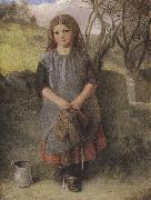 Alexander Davis cooper The Little Milkmaid (mk37) oil