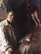 Anders Zorn Self-Portrait with Model (nn02) oil painting artist
