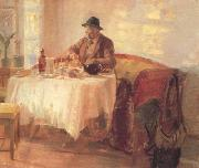 Anna Ancher Breakfast Before the Hunt (nn02) oil painting picture wholesale