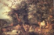BRUEGEL, Pieter the Elder The Garden of Eden (nn03) oil painting picture wholesale