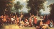 CORNELIS VAN HAARLEM Fohn the Baptist preaching (mk33) oil painting picture wholesale